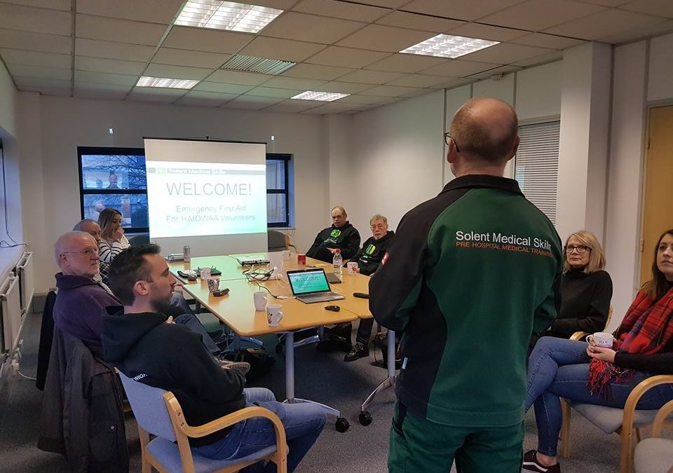 Emergency First Aid training for Hampshire and Isle of Wight Air Ambulance volunteers