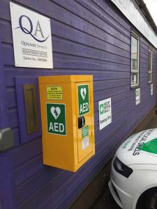 Solent Medical Skills provides an AED for public use
