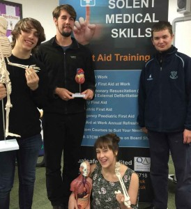 First Aid at Work training for Bitterne Park Sixth Form students